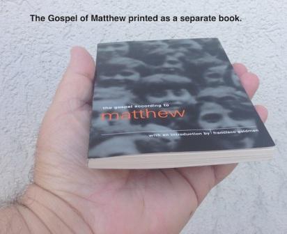 Matthew as a separate book